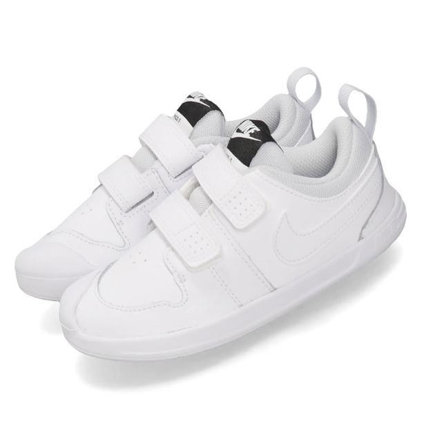 【NIKE 耐吉】休閒鞋 Pico 5 運動 童鞋 基本款 魔鬼氈 舒適 穿搭 小童 白 灰(AR4162-100)
