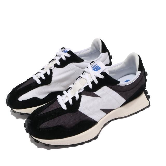 【NEW BALANCE】休閒鞋 327 復古 穿搭爆款 男女鞋 紐巴倫 N字鞋 麂皮 百搭 舒適 灰 白(MS327LB1D)