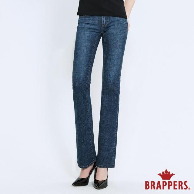 【BRAPPERS】女款 新美腳 ROYAL系列-低腰彈性喇叭褲(深藍)