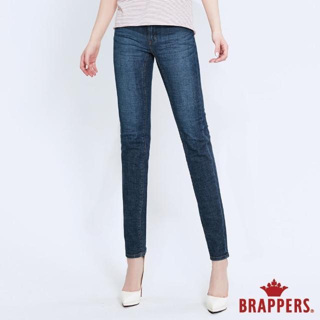 【BRAPPERS】女款 新美腳 ROYAL系列-低腰彈性直筒褲(深藍)