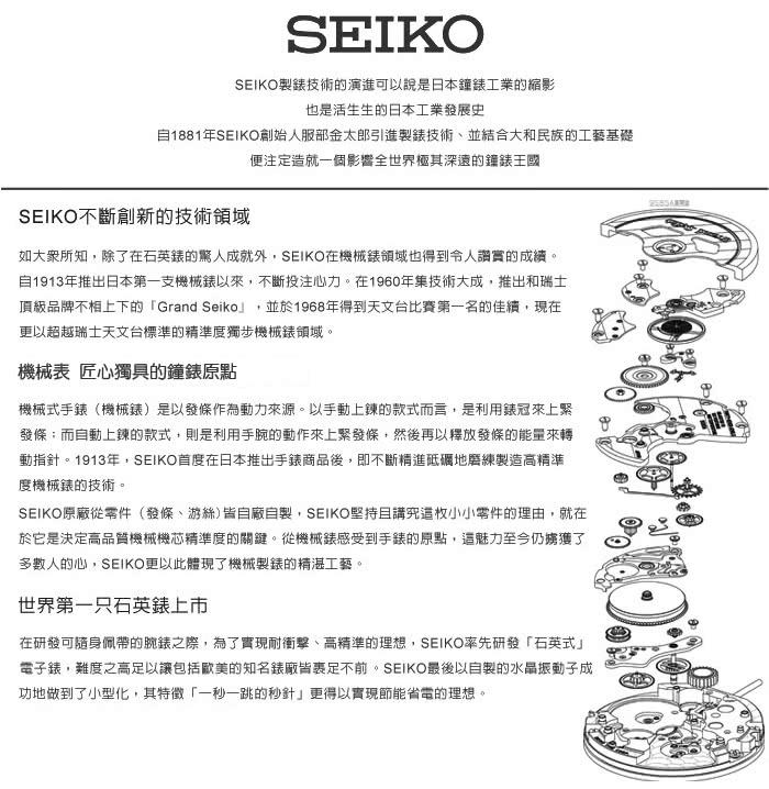 【SEIKO 精工】送禮首選_三眼計時_皮革錶帶_強化玻璃鏡面_日期顯示_防水_男錶(SPC087P1)