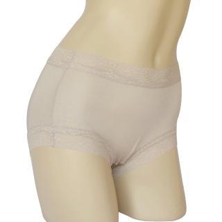 【賽凡絲】純蠶絲蕾絲平口蠶絲褲2件組(銀灰色)