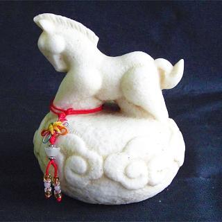【雕塑藝術大師 羅廣維】開運陶源 《秤心如意》系列(石塑造十二生肖-馬)