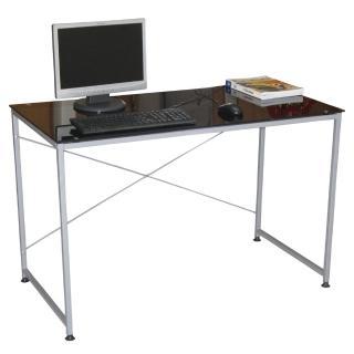【美佳居】120x60/公分(強化玻璃)書桌/電腦桌(黑色)