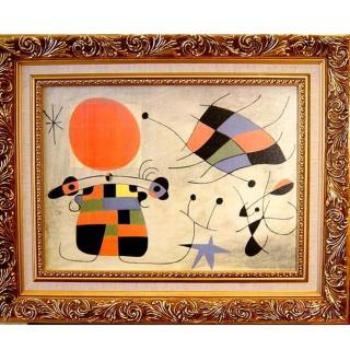 【開運陶源】《太陽也起舞》米羅抽象畫