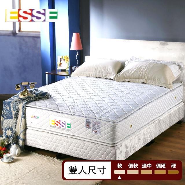 【ESSE御璽名床】優質四線-雙面三線車工獨立筒床墊(5x6.2尺-雙人尺寸)