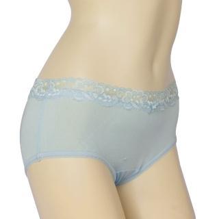 【賽凡絲】法式蕾絲完美情人純蠶絲內褲2件組(水藍)