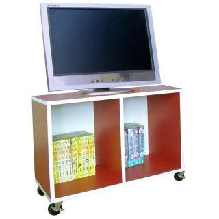 【美佳居】寬60公分-耐重型(活動式)電視櫃 收納櫃 書櫃 置物櫃-紅白色(附四個工業輪)