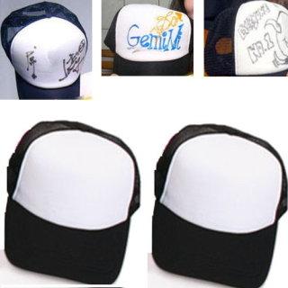 i 美麗-潮人塗鴉帽-黑/白色