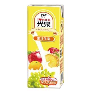 【光泉】果汁保久乳200ml*24瓶