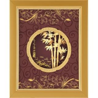 【開運陶源】金箔畫禮品 純金豐實系列-節節高升....20 x 25cm