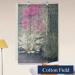 【棉花田】花卉彩色天然竹捲簾(90x160cm)