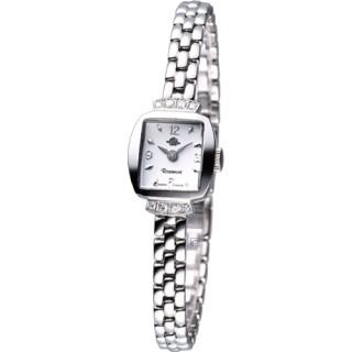 【Rosemont】骨董風玫瑰系列 優雅時尚錶(TRS016-03MT銀白)