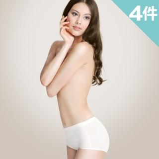 【樂活人生LOHAS】台灣製MIT 國際認證ECO 無添加95%有機純棉提臀高腰提臀修飾褲(超值4入組)