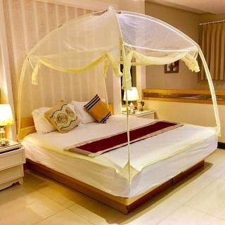 【威克爾】米色三門蒙古包睡帳/蚊帳(標準雙人床尺寸)