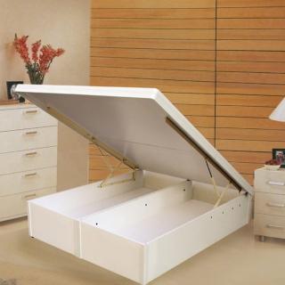 【Maslow-特高型40公分白色】加大後掀床架-6尺