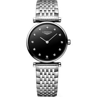 【LONGINES】嘉嵐系列 12顆真鑽女錶(L42094586)