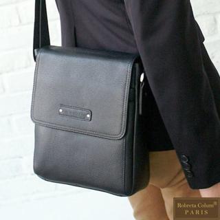 【Roberta Colum】時尚鉚釘軟牛皮超質感側肩背包-共2色
