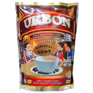 【金寶】URBON二合一無糖咖啡(12gx20小包)