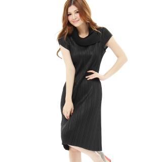 【羽生摺衣】英倫奢華-造型摺領洋裝(共三色)