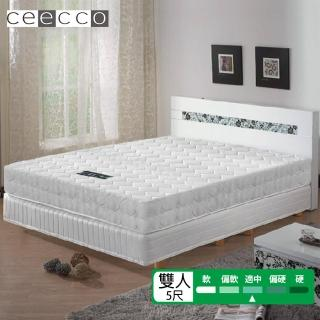 【ceecco】米雪兒高彈力高碳鋼護背彈簧床墊(雙人5尺)-618限定防疫好眠