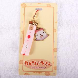 【Kapibarasan 】水豚君和風系列緞帶手機吊飾(水豚妹)