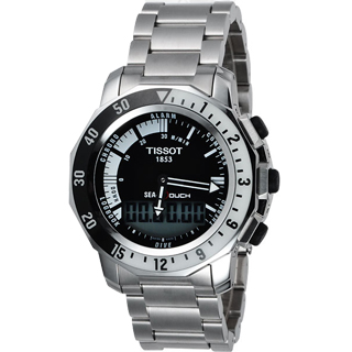 【TISSOT】SEA-TOUCH 觸控多功能潛水錶-黑(T0264201105100)