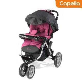 【CAPELLA】BS901三輪慢跑車/嬰兒手推車(卡吉/酒紅)