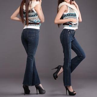 【RH】顯瘦纖細牛仔褲立體喇叭款(全新到貨復古小喇叭全尺碼S-4L)