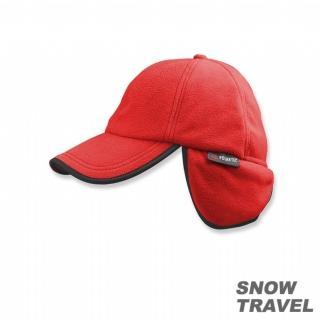 【SNOW TRAVEL】WINDBLOC防風保暖遮耳棒球帽(紅色)