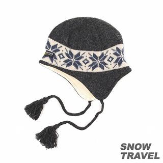 【SNOW TRAVEL】 3M防風透氣保暖羊毛遮耳帽(深灰)