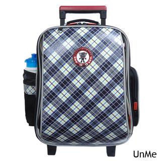 【Best Easy】UnMe高年級藍格風拉桿後背兩用書包(魅力藍)