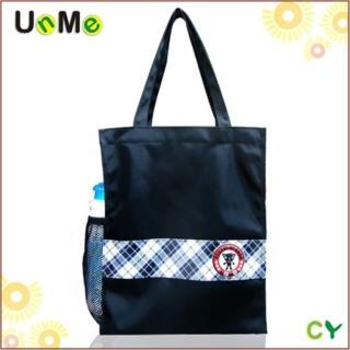 【UnMe】可愛直式格格風手提袋(藍格色)