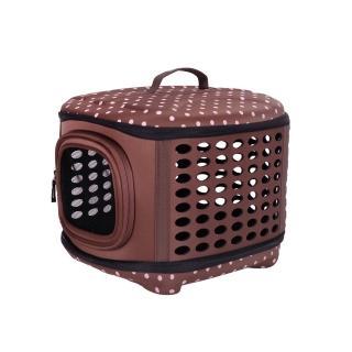 【IBIYAYA依比呀呀】EVA輕巧摺疊寵物提籠-咖啡點點(FC1006)