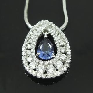 【Celosa珠寶】月光戀曲藍寶墜鍊