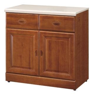 【顛覆設計】道格樟木色2.7尺石面餐櫃下座