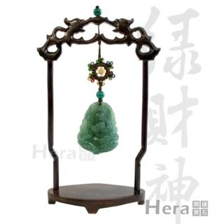 Hera藏傳好運綠財神迎財擺件