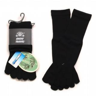 【SNOWTRAVEL】COOLMAX排汗快乾抗菌五指襪 X3(黑色)