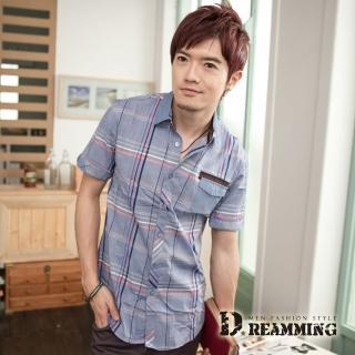 【Dreamming】英倫線條格紋短袖襯衫(共三色)