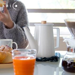 【kaico】簡約風 琺瑯咖啡手沖壺1.1公升(日本製)