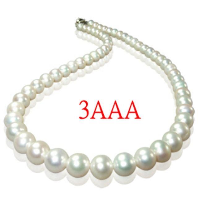 【小樂珠寶】3AAA最高等級天然珍珠項鍊7-7.5mm(白色限量款)超值推薦
