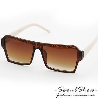 【Seoul Show】方形記憶 Flat Top單色調太陽眼鏡(2001 豹紋x象牙)