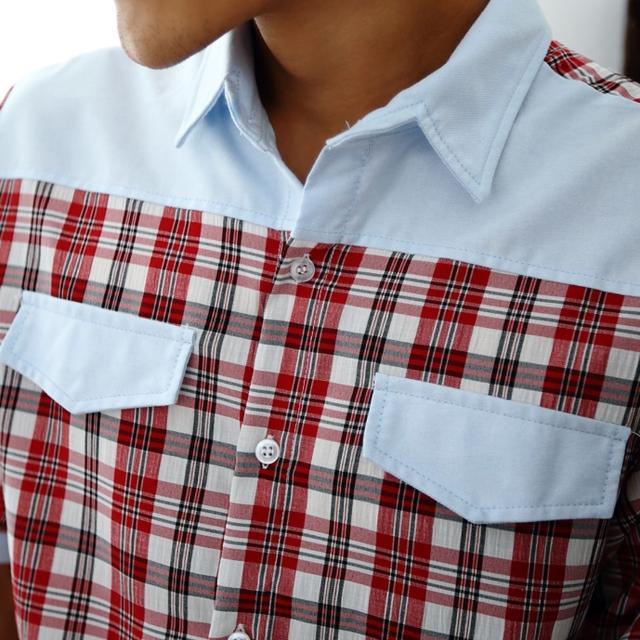【Jimmy&Wang】男生率性紅格紋襯衫(網)評比