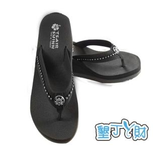【墾丁ㄚ財】夏艷-典雅系列人字拖(黑色)