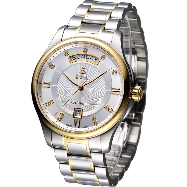 【E.BOREL 依波路】布拉克系列機械腕錶(GB7350W-2599)