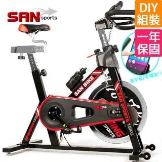【SAN SPORTS】@   黑爵士18KG飛輪健身車(C165-018)