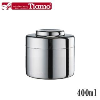 【Tiamo】0903不鏽鋼茶葉罐 儲豆罐 400ml(HG2804)