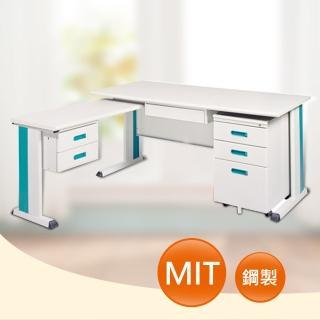 【時尚屋】DIY5尺KD淺灰色L型辦公桌櫃組(262-5)