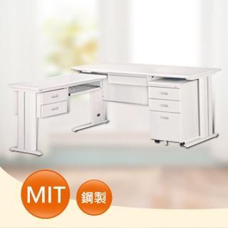 【時尚屋】DIY5尺CD淺灰色L型辦公桌櫃組(264-8)