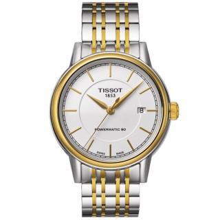 【TISSOT】Carson Powermatic 80 機械腕錶-雙色版(T0854072201100)